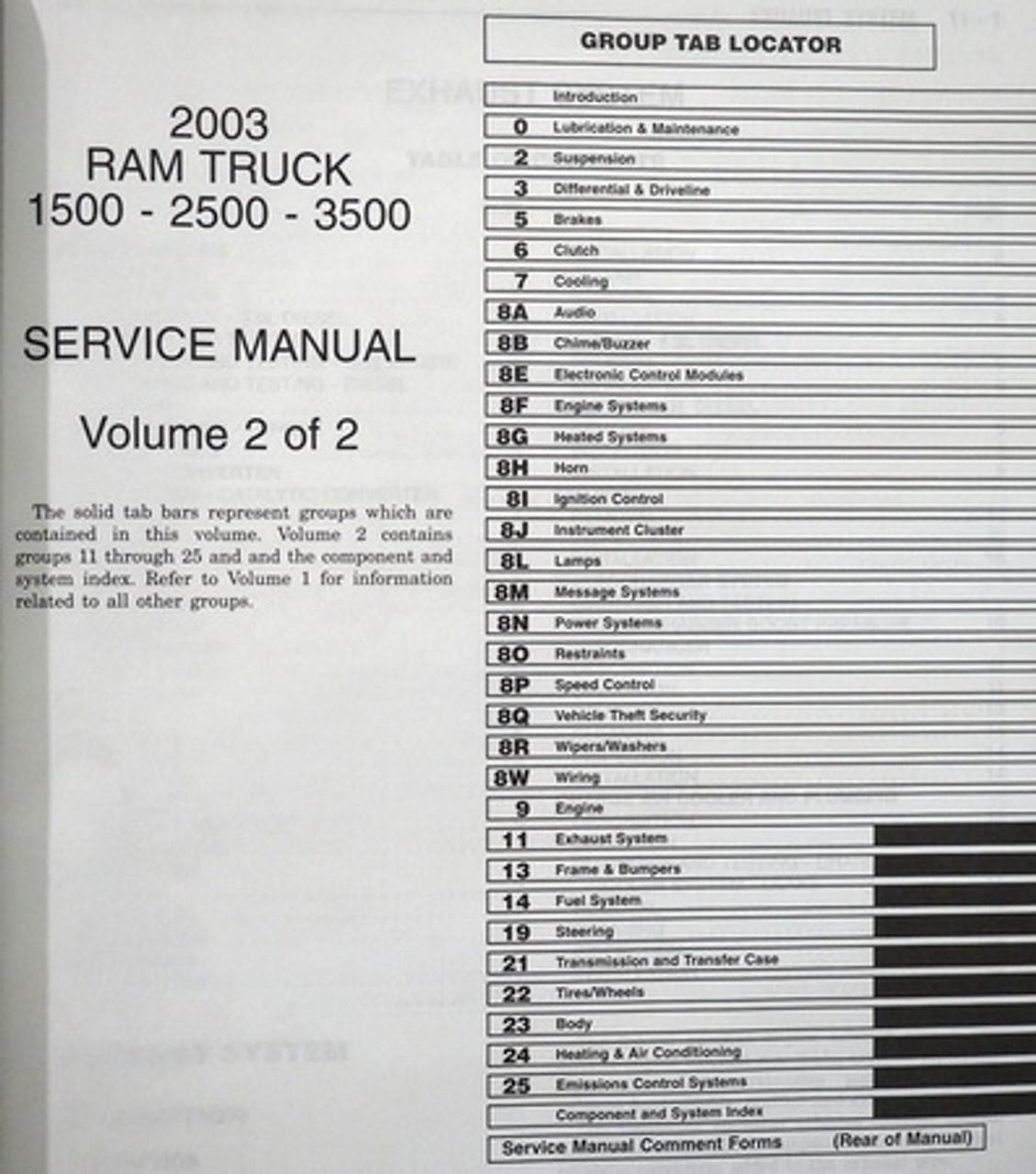 Anleitungen & Handbcher Auto & Motorrad: Teile 2003 Dodge DR Ram ...