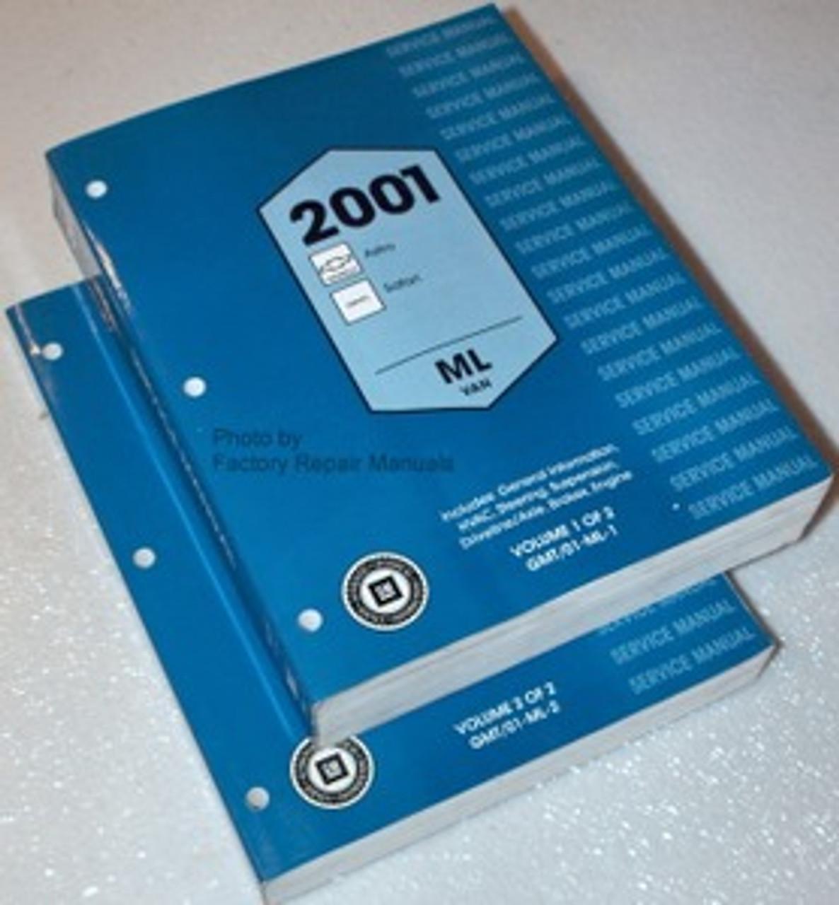 2001 Chevy Astro Van Gmc Safari Factory Service Manual Set Original Shop Repair