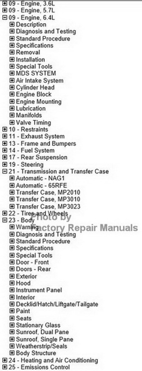 2012 Jeep Grand Cherokee Factory Service Manual CD-ROM