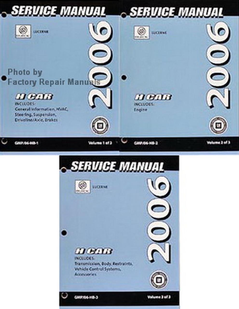 2006 Buick Lucerne Factory Shop Service Repair Manual 3 Volume Set