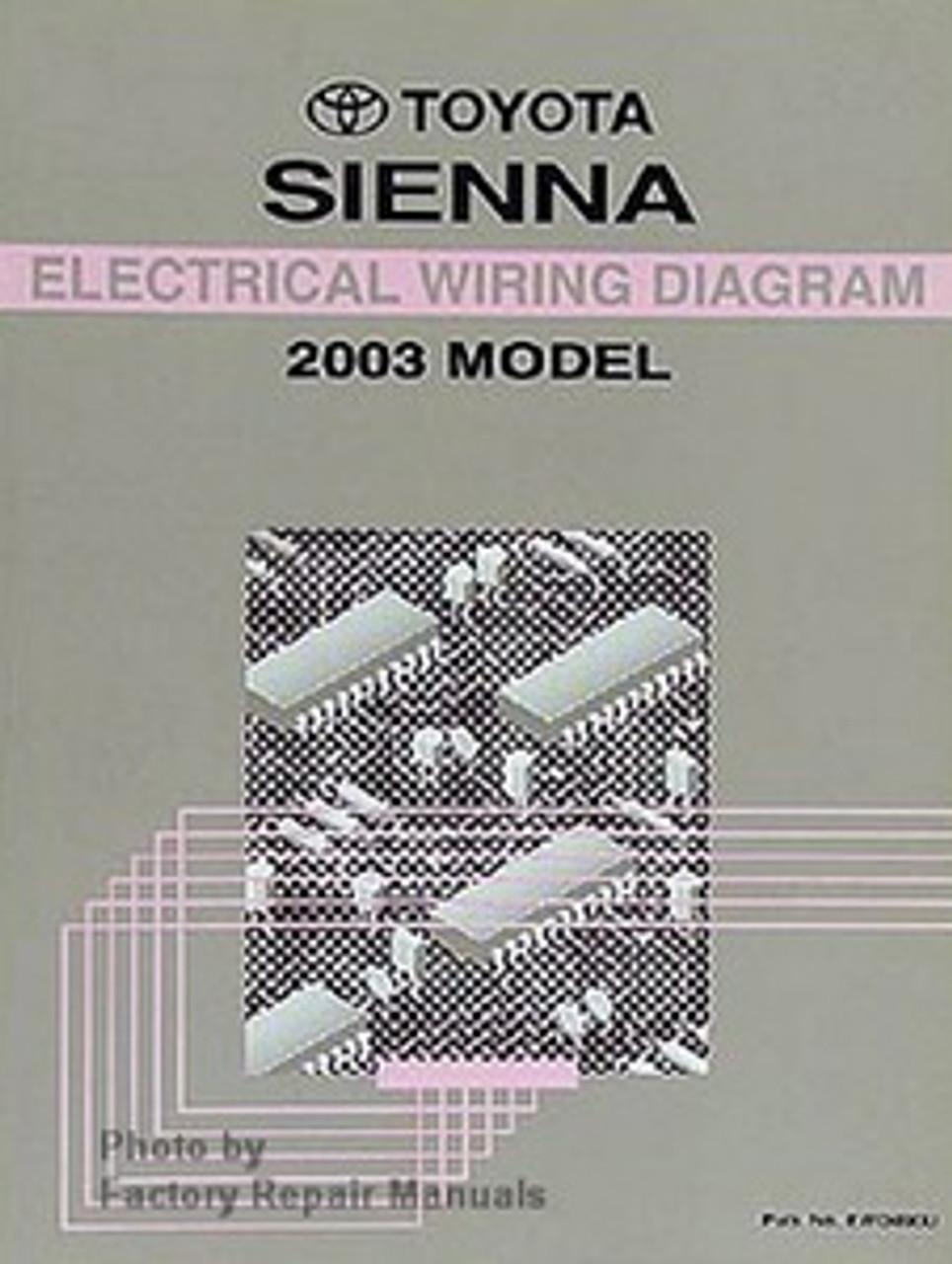 2003 Toyota Sienna Electrical Wiring Diagrams Original