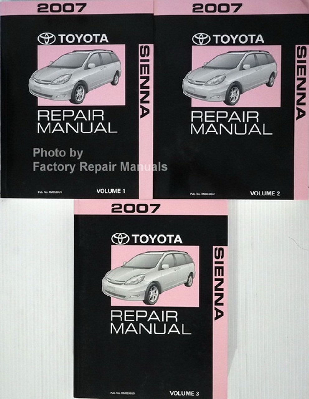 2007 Toyota Sienna Factory Service Manual Set Original Shop Repair Factory Repair Manuals