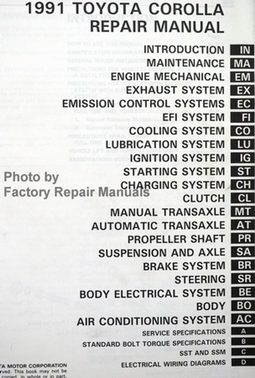 1991 Toyota Corolla Engine Diagram 1991 Toyota Engine Wiring Pictures