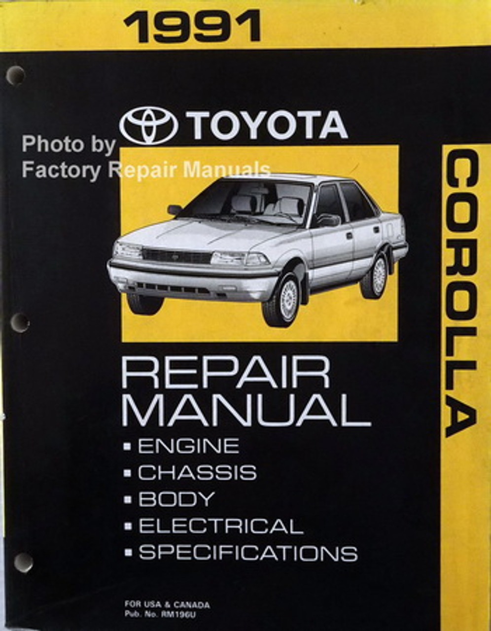 [TBQL_4184]  1991 Toyota Corolla Factory Service Manual Original Shop Repair - Factory  Repair Manuals | 1991 Toyota Corolla Dx Wiring Diagram Schematic |  | Factory Repair Manuals