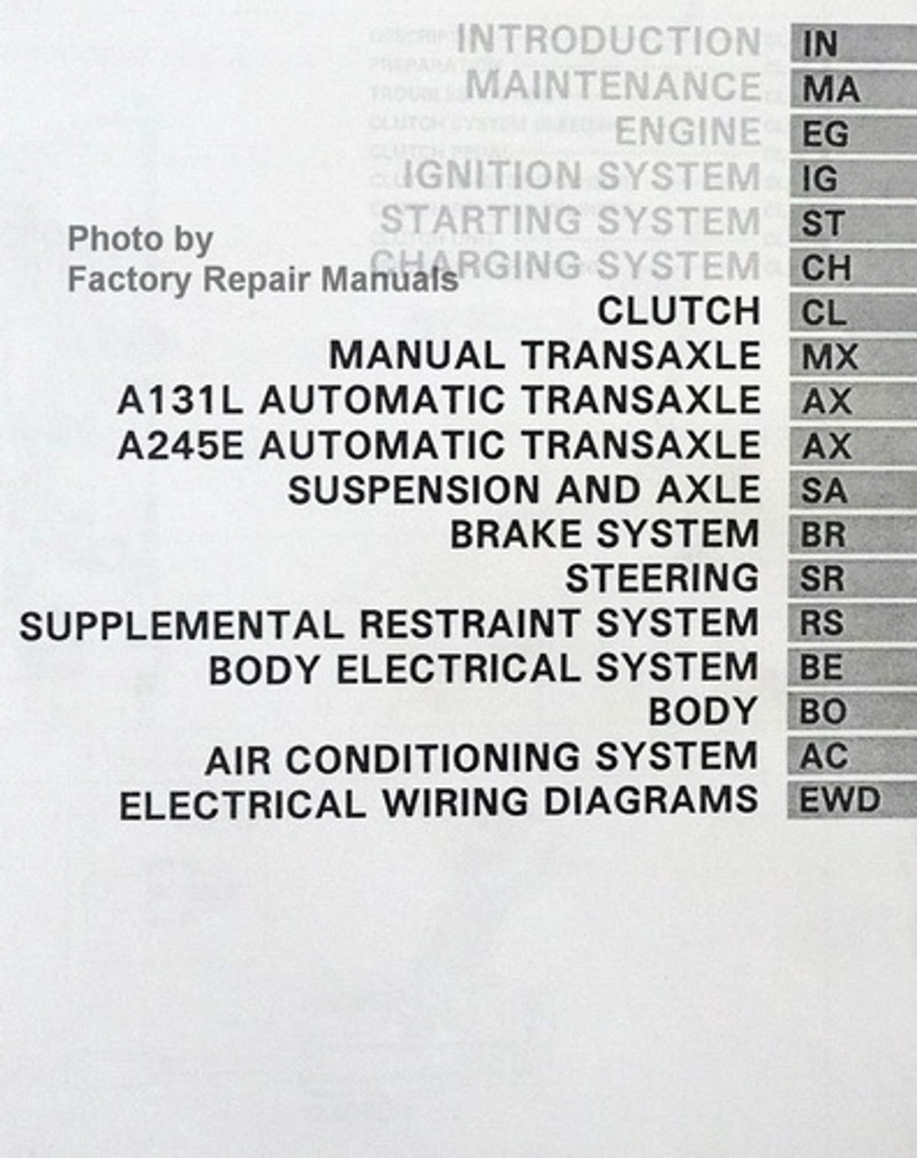 1994 Toyota Corolla Factory Service Manual Set Original