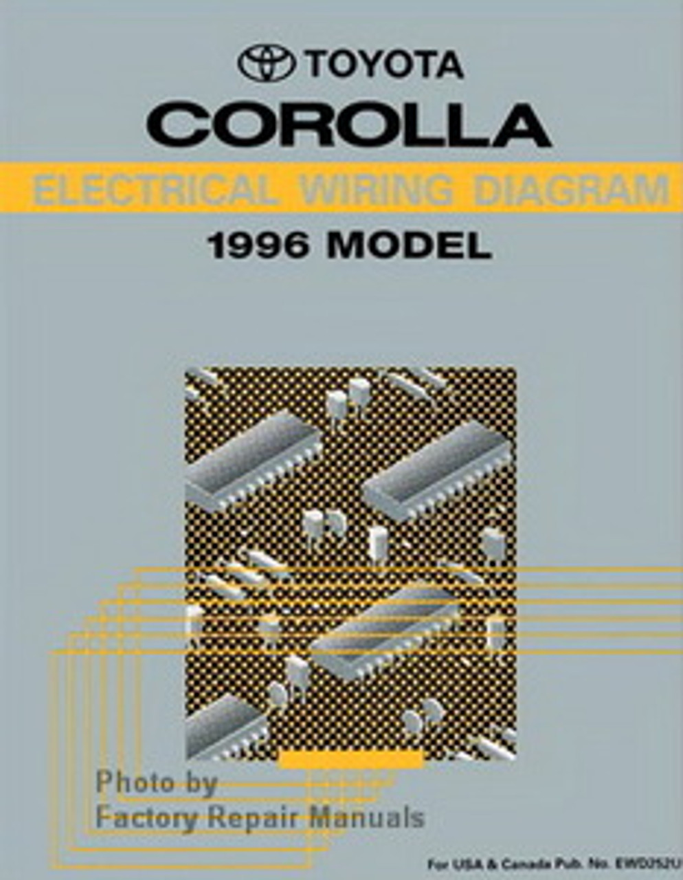 1996 toyota corolla electrical wiring diagrams original manual - factory  repair manuals  factory repair manuals