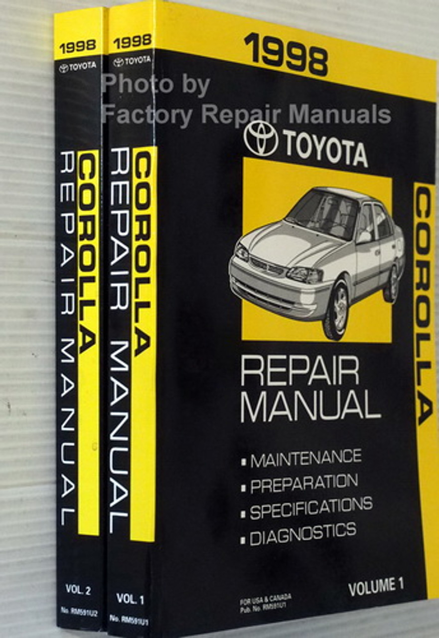 1998 Toyota Corolla Factory Service Manual Set Original