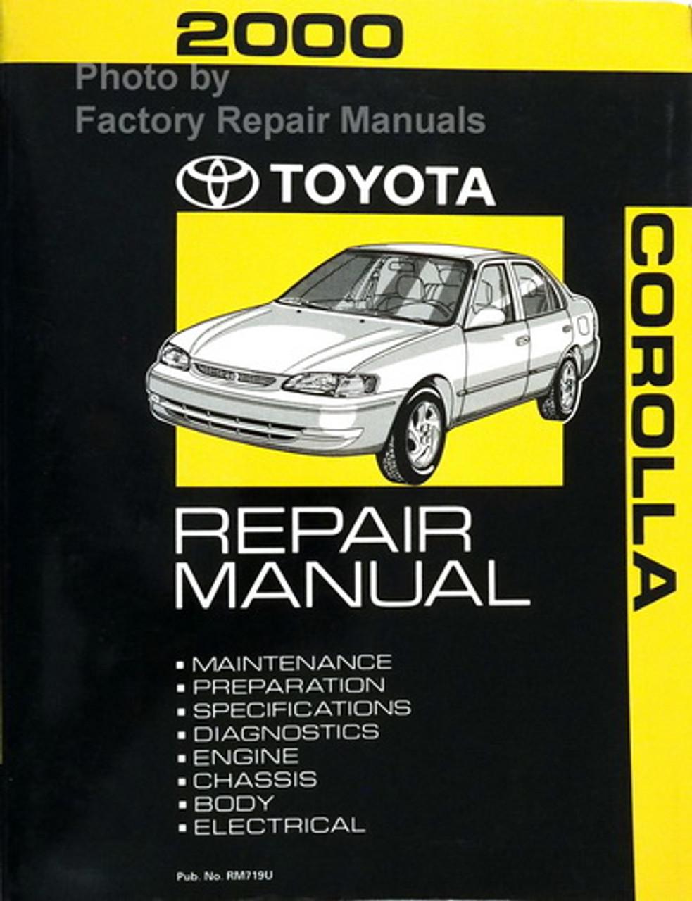 2000 Toyota Corolla Factory Service Manual Original Shop Manual Guide