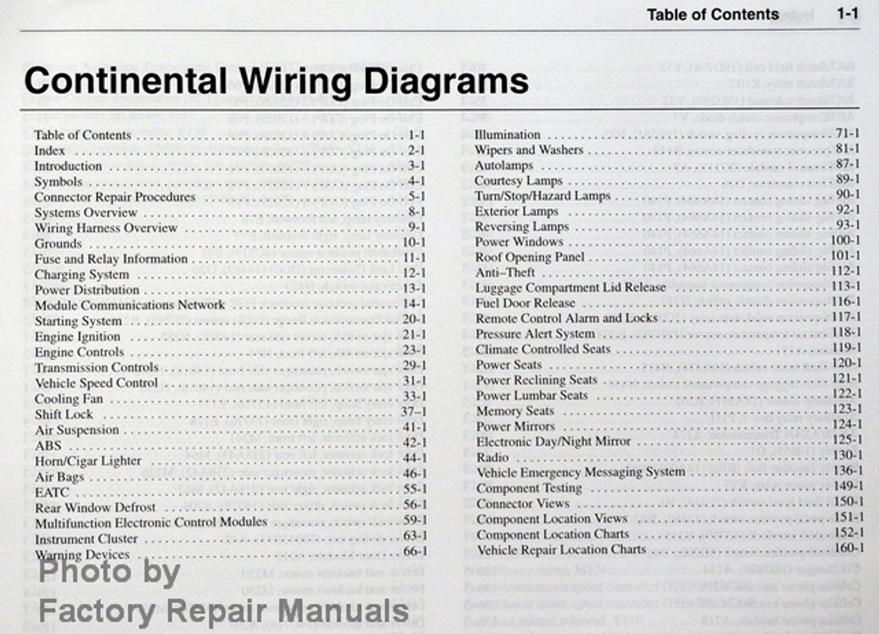 2002 Lincoln Continental Electrical Wiring Diagrams Original Ford Manual