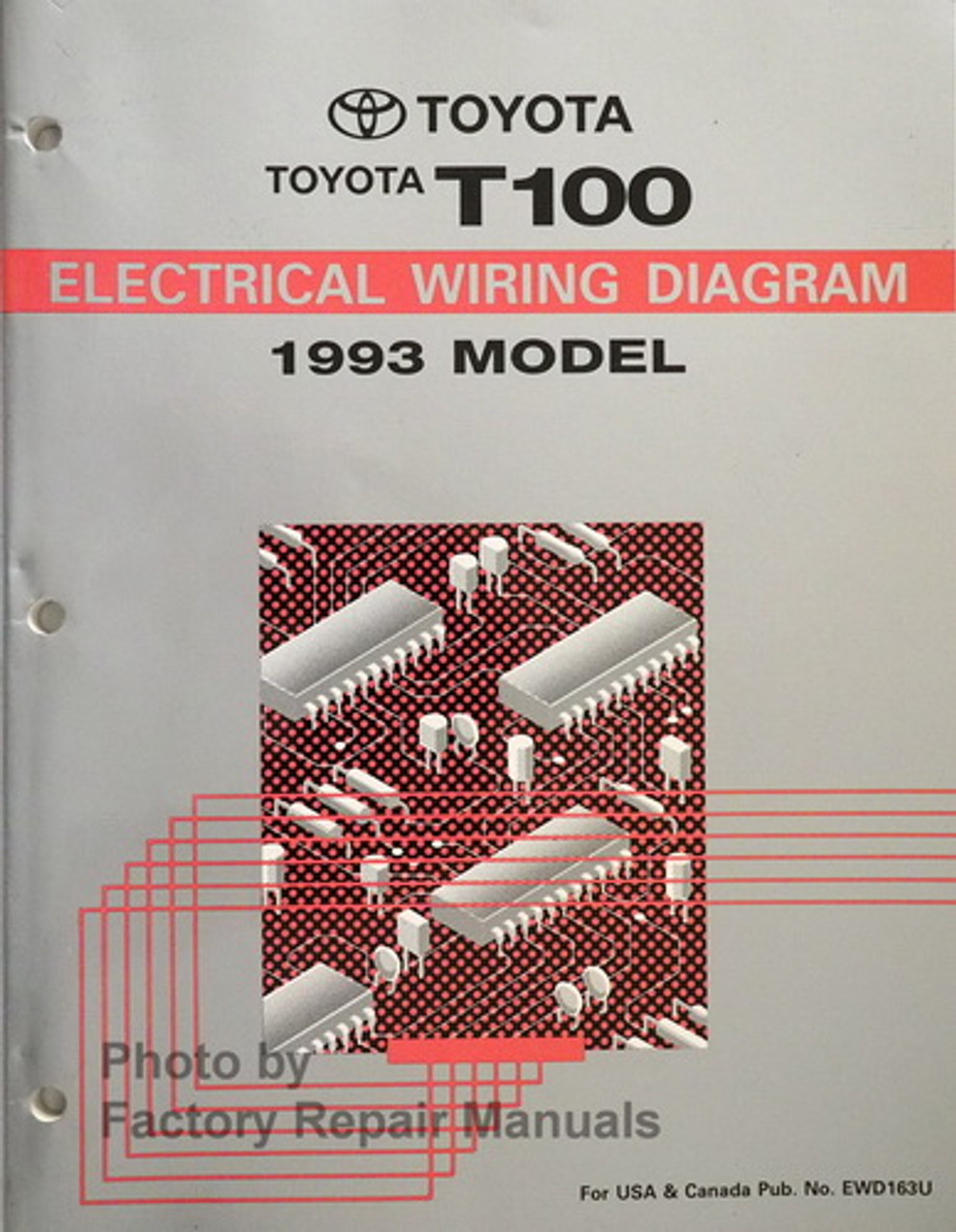 1993 toyota t100 truck electrical wiring diagrams original - factory repair  manuals  factory repair manuals
