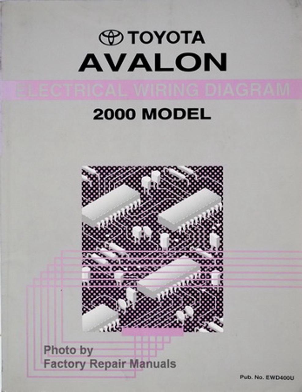 2000 Toyota Avalon Electrical Wiring Diagrams Original