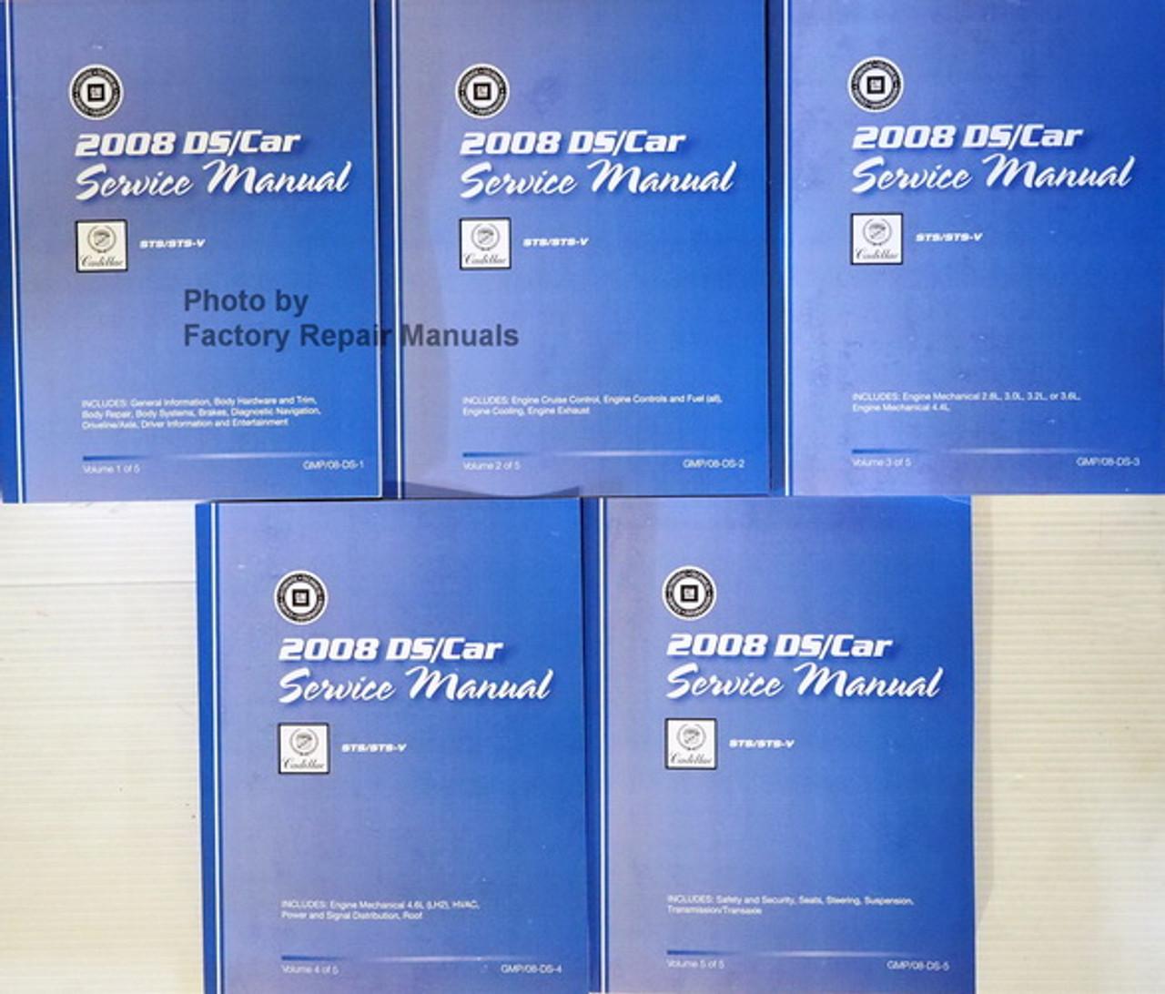 2008 Cadillac Sts    Sts-v Factory Shop Service Manual 5 Volume Set
