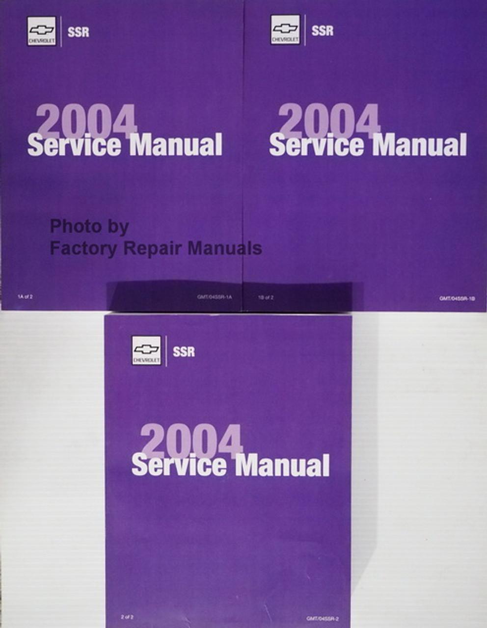 2004 Chevy Ssr Factory Service Manual Set Gm Shop Repair