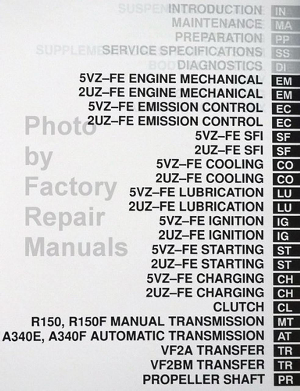 2002 Toyota Tundra Factory Service Manual Set Original