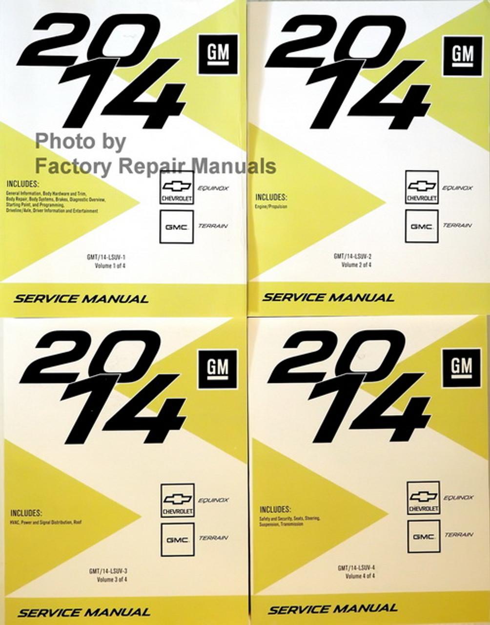 2014 Chevy Equinox Gmc Terrain Factory Service Manual Set Original Shop Repair