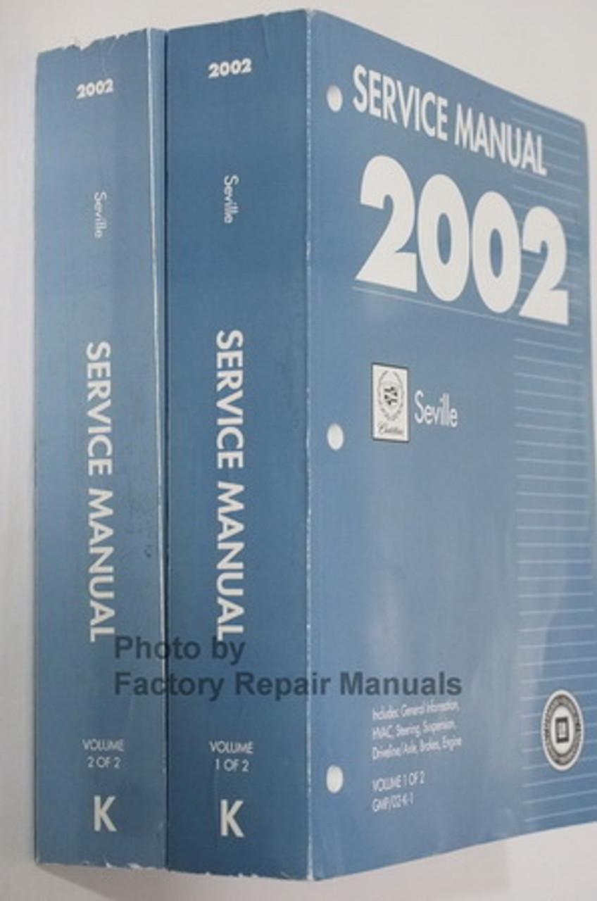 2002 Cadillac Seville Factory Service Manual Set Original Shop Repair