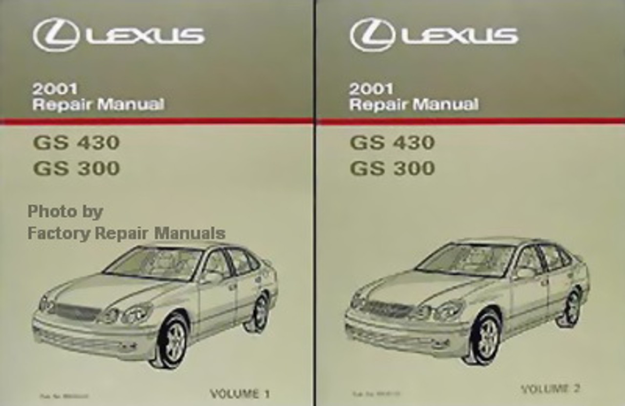 2001 LEXUS GS430 & GS300 Factory Service Manual Set Original Shop Repair