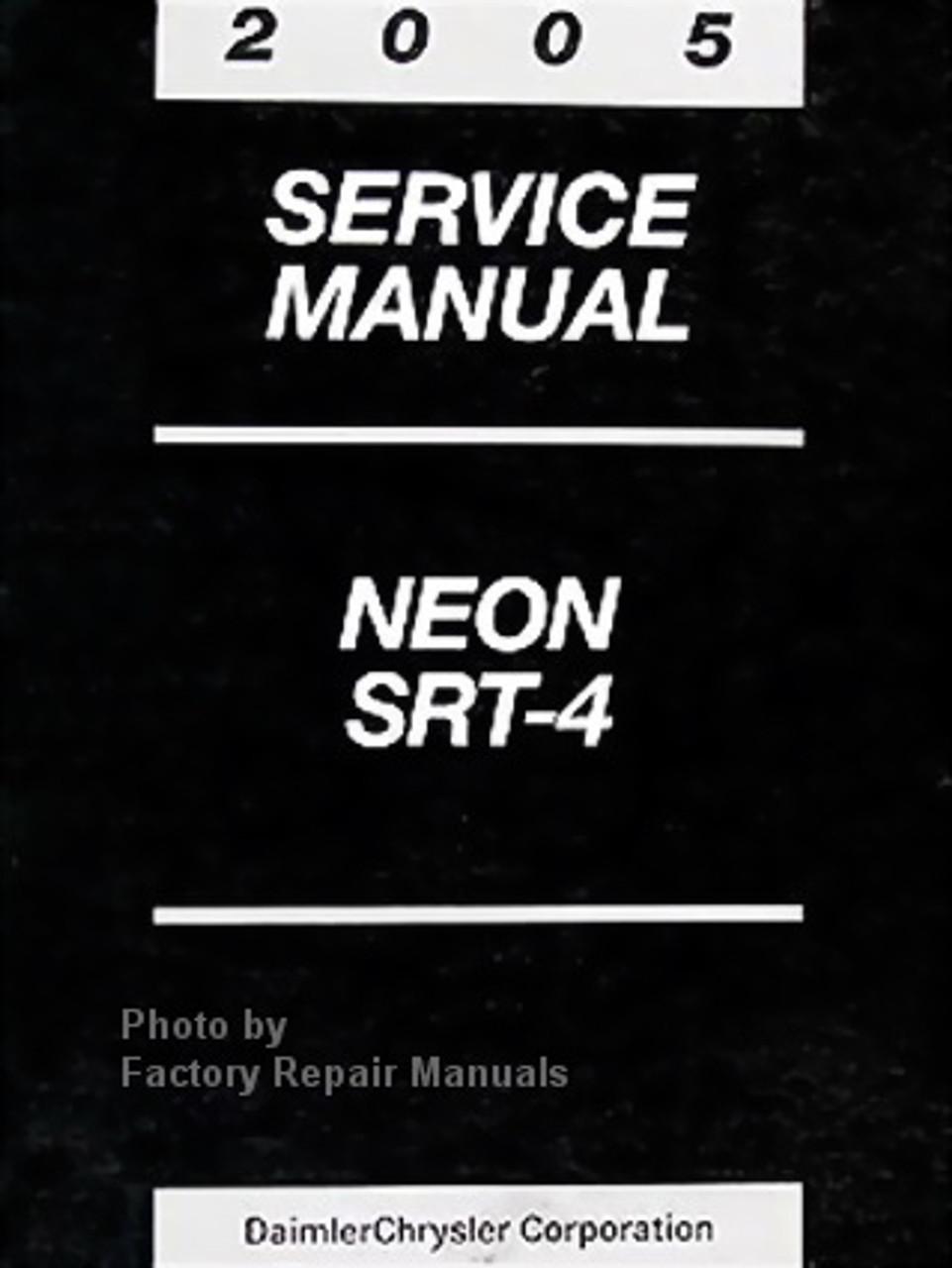 2005 Dodge Neon Factory Service Manual Original Shop Repair Factory Repair Manuals