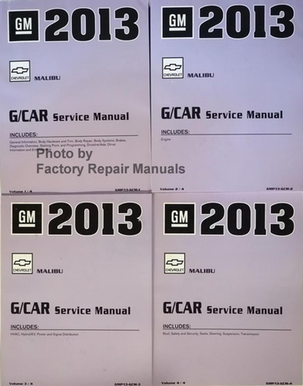 2013 Chevy Malibu Factory Service Manual Set Original Shop Repair
