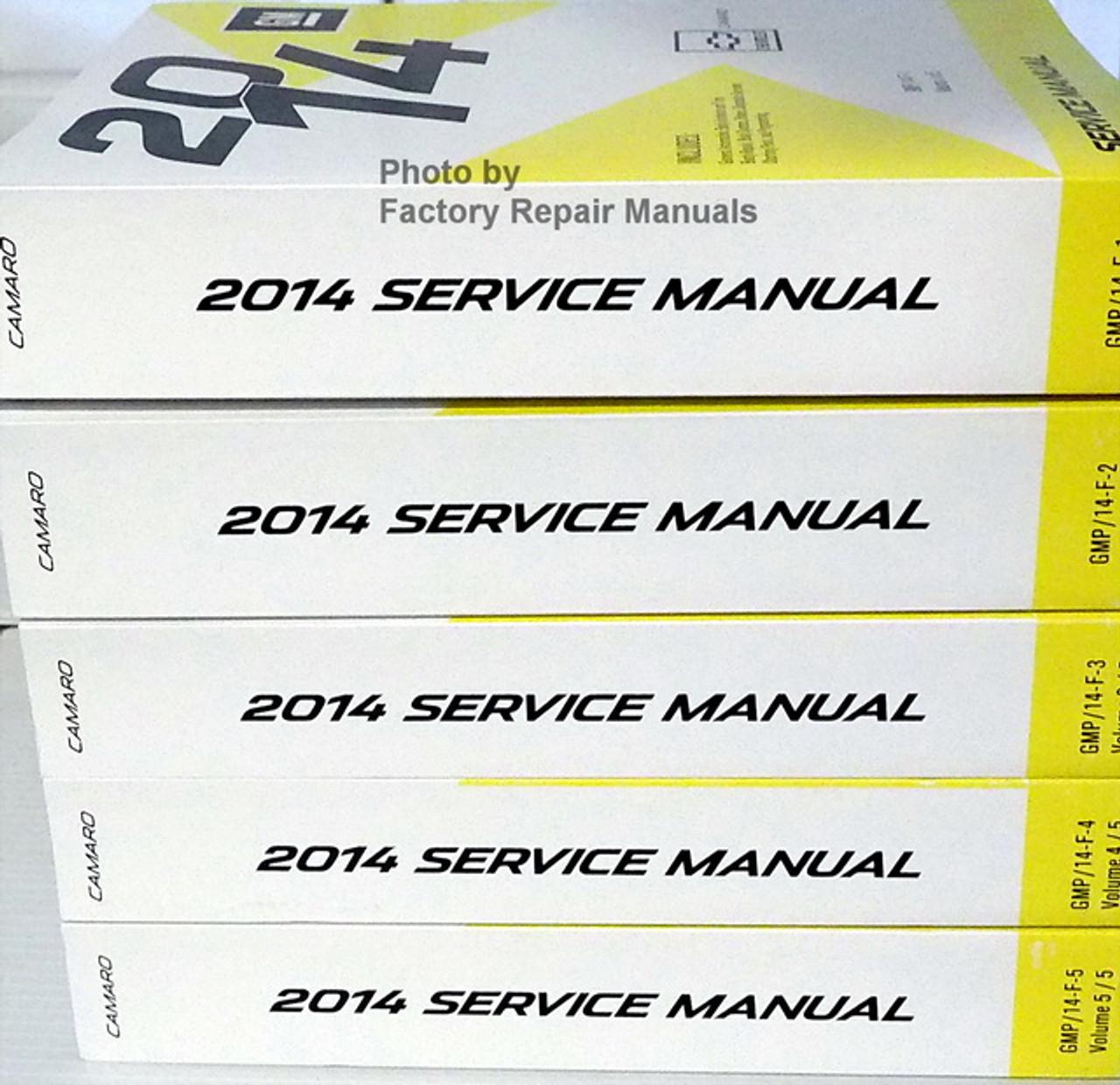 2014 Chevy Camaro Service Manual Complete Set Original Shop Repair Factory Repair Manuals
