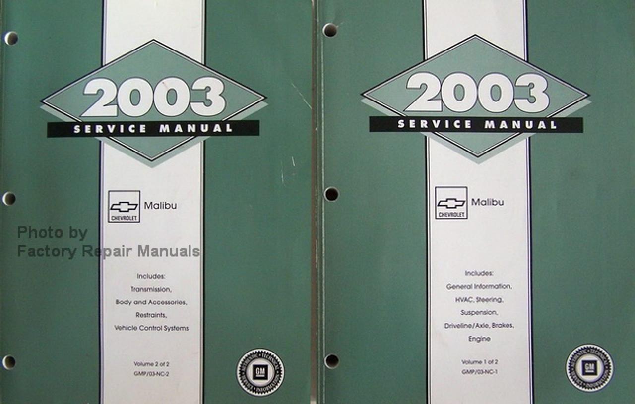 2003 Chevy Malibu Factory Service Manual Set Original Shop Repair