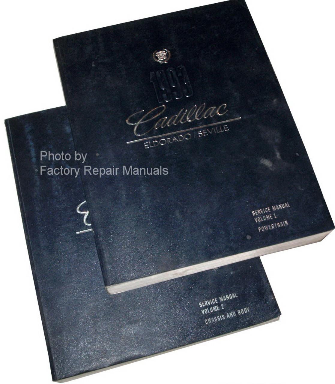 1993 Cadillac Eldorado  U0026 Seville Factory Service Manual Original 2 Volume Set