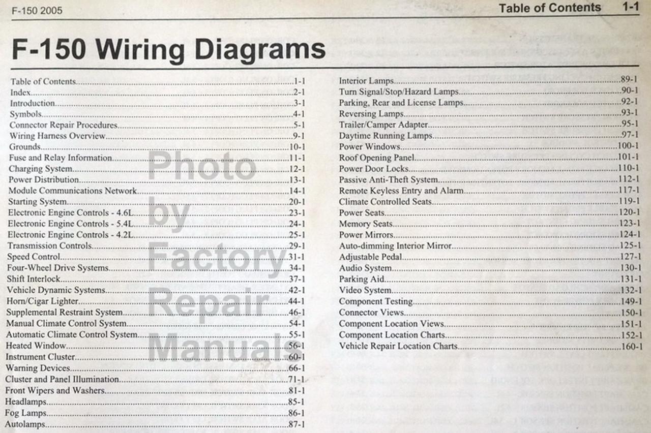 2005 Ford F150 Truck Electrical Wiring Diagrams Original Factory Repair Manuals