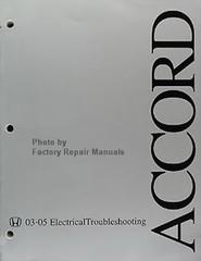 Honda Accord 03-05 Electrical Troubleshooting Manual