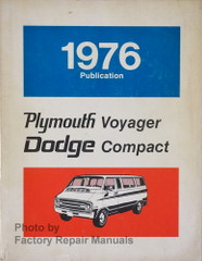 1976 Dodge Compact Van Plymouth Voyager Service Manual