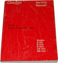 1973 Dodge Van B-100 B-200 B-300 Service Manual