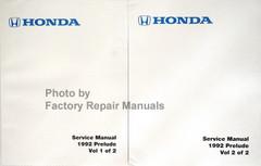 Honda 1992 Service Manual Prelude