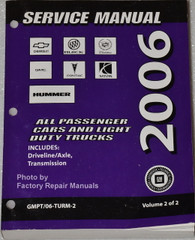 2006 GM Manual Transmission and Transfer Case Unit Repair Overhaul Manual