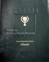 Cadillac Service Information Manual Allante 1991 1992