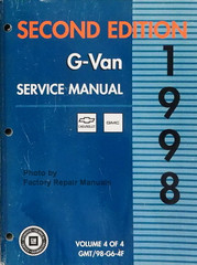 1998 GM G Van Chevy Express GMC Savana Service Manual Volume 4