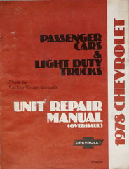 1977 Chevy Passenger Car & Light Duty Truck Unit Repair Overhaul Manual