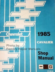 Chevrolet 1985 Cavalier Shop Manual