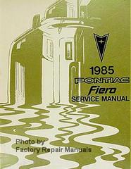 1985 Pontiac Fiero Service Manual