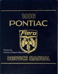 1986 Pontiac Fiero Service Manual