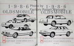 1986 Oldsmobile Calais, Cutlass Ciera, Delta 88, Firenza, 98 Service Manual Volumes 1 and 2