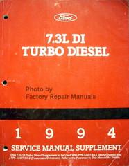 1994 Ford 7.3L DI Turbo Diesel Service Manual Supplement