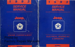 1993 Service Manual Jeep Wrangler / Cherokee