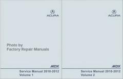 2010-2012 Acura MDX Factory Service Manuals