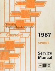 Chevrolet 1987 Sprint Service Manual