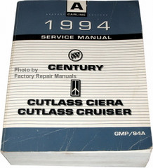 1994  Service Manual Buick Century Oldsmobile Ciera Cutlass Cruiser