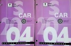 2004 Pontiac Vibe, Vibe GT Service Manual Volume 1 and 2