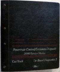 2000 Ford Lincoln Mercury Car & Truck PC/ED Service Manual
