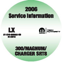 2006 Chrysler 300 Series, Dodge Charger and Magnum Mopar Service Manual