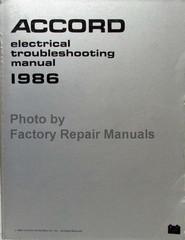 Honda Accord Service Manual 1986 Electrical Troubleshooting Manual