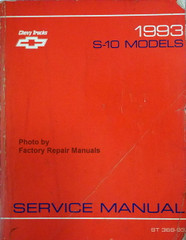 Chevrolet 1993 S-10 Models Service Manual
