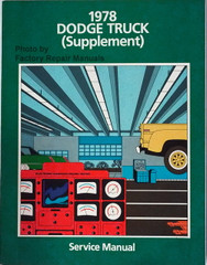 1978 Dodge Truck Supplement Service Manual